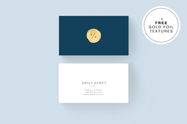 Blue Gold Business Cards