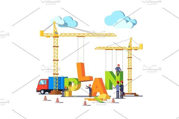 Business Construction Site Building Word PLAN