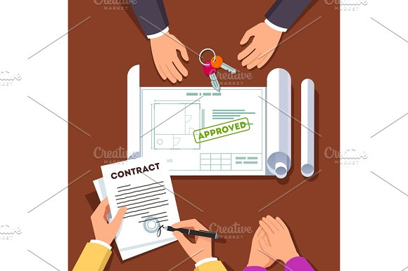 Hands Signing House Or Apartment Contract