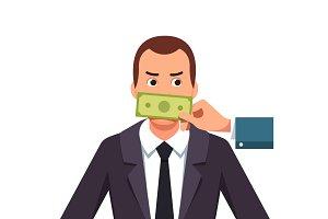 Lobbyist corruption concept