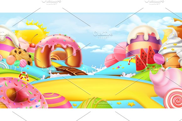 Sweet Landscape 3D Vector