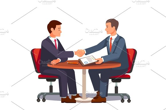 Businessman Shaking Hands On A Signed Contract