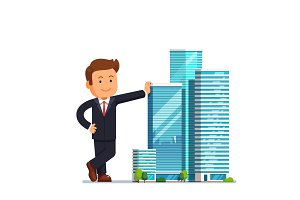 Real estate developer entrepreneur concept