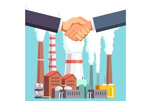 Buying and selling factory or energy plant