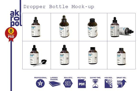 Dropper Bottle Mock-up - Product Mockups