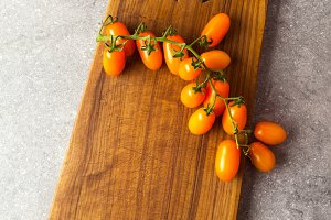Orange Sicilian cherry tomatoes