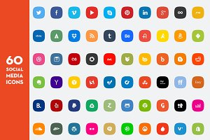 60 Social Media Icon Set