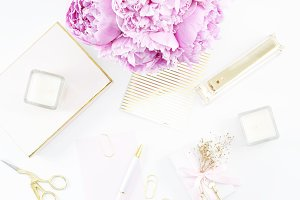 Peony & Gold Chic Desktop Photo 5