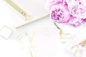 Peony & Gold Chic Desktop Photo 6