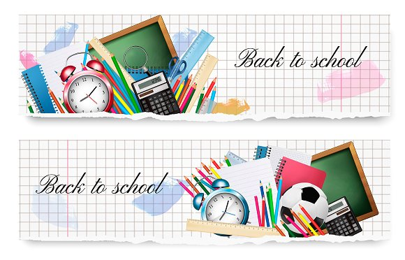 Two Back To School Banners