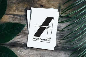 Letter A Corporate Logo Set