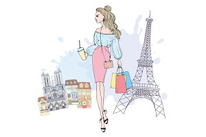 Paris shoping card