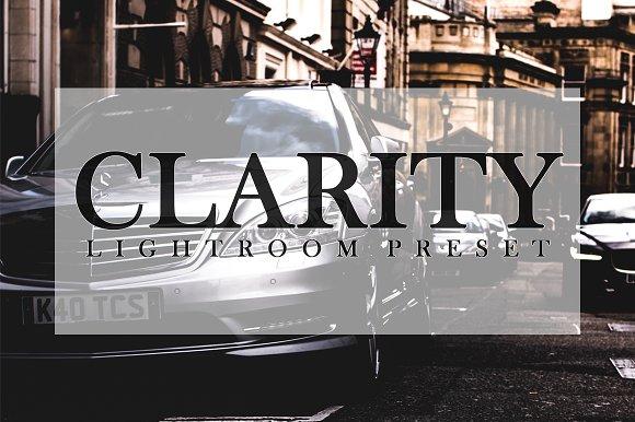 CLARITY Lightroom Preset