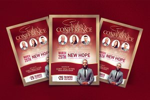 Speakers's Conference Flyer Template