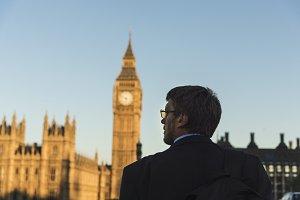 A businessman in London