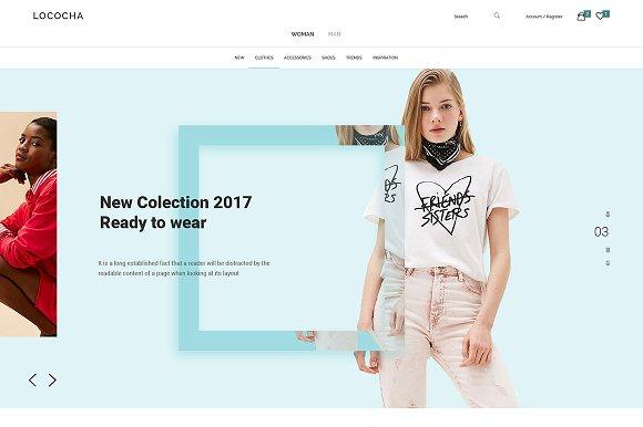Lococha PSD Template For Fashion