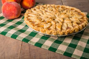 Peaches with peach pie