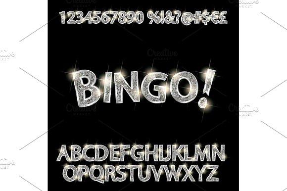 Elegant Silver Alphabet