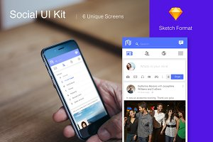 The Social - UI for social media app