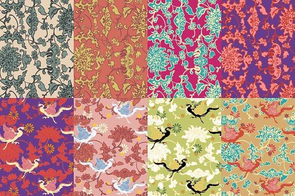 Orientally Phoenix Pattern