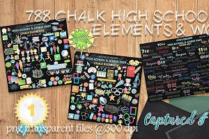 788 Chalkboard High School Elements