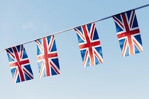UK flag against the sky