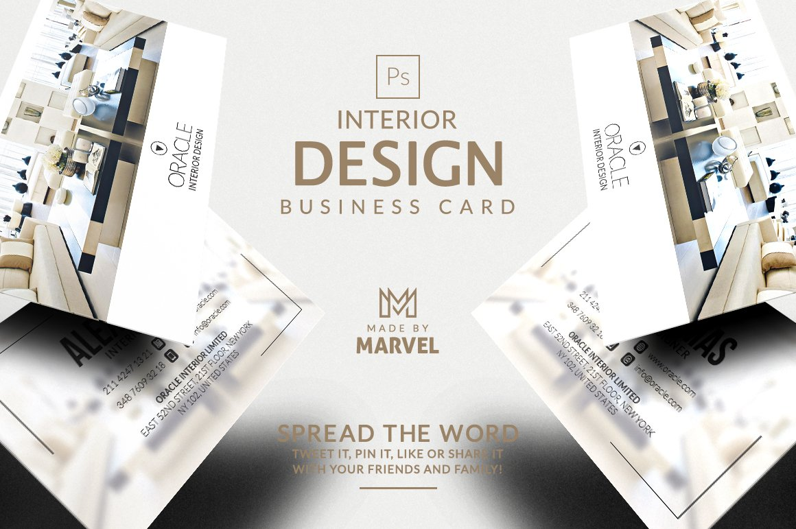 Interior Design Business Card ~ Business Card Templates ~ Creative ...