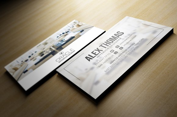 interior design business card business card templates creative market - Interior Design Business Cards