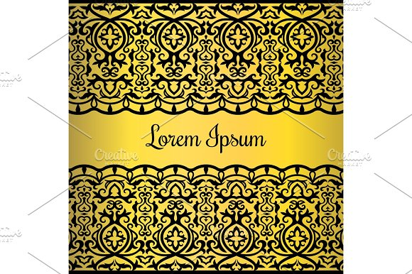 Gold Lace Style Card Design