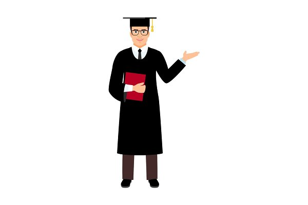 University male student graduate