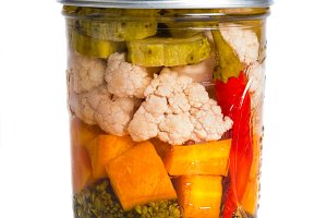 Mixed pickled vegetables
