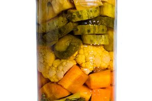 Preserved pickled vegetables