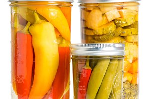 Home canned hot peppers