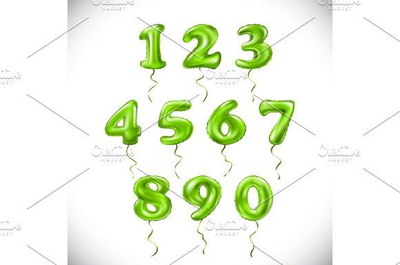 Green 1 2 3 4 5 6 7 8 9 0 Balloon