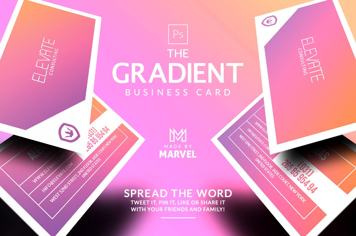 Gradient Business Card ~ Business Card Templates ~ Creative Market