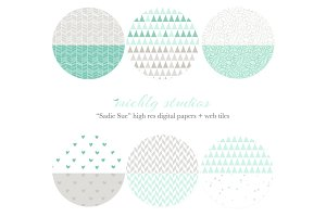 Sadie Sue web tiles & digi paper