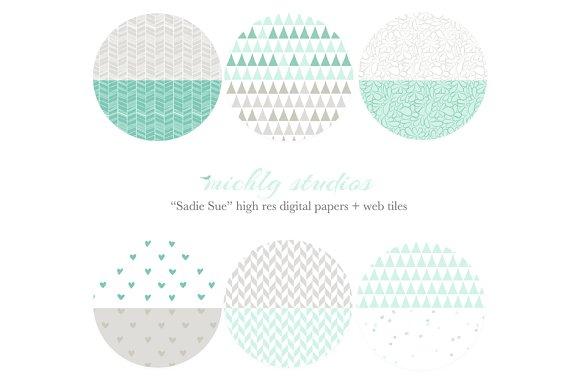 Sadie Sue web tiles & digi paper