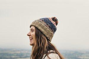 Happy woman traveller