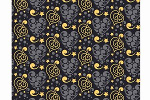 hearts, seamless pattern