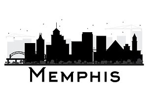 Memphis City skyline
