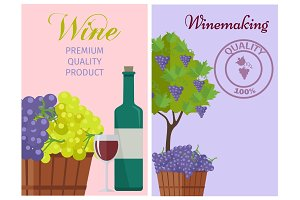 Wine of 100% Premium Quality Promotional Poster