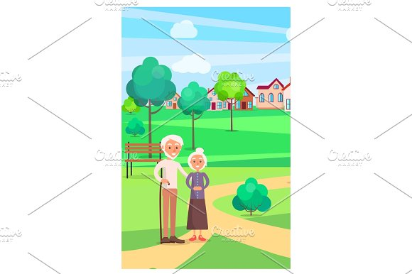 Senior Couple Standing On Path At Park In Summer