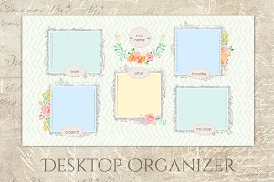 Pastel Organizer Wallpaper