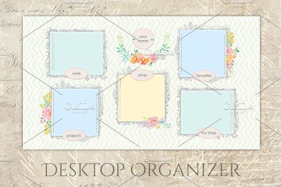 Pastel Organizer Wallpaper