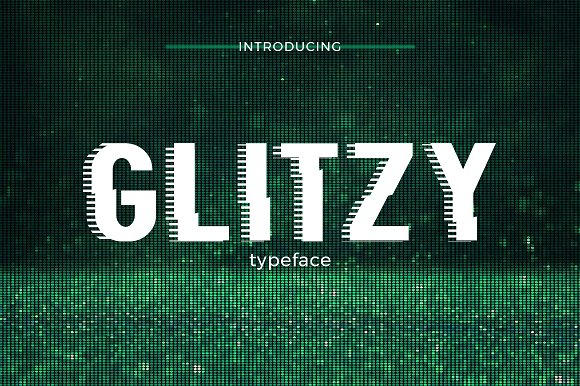 Glitzy Typeface