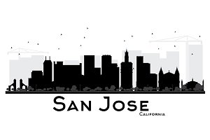 San Jose California City skyline