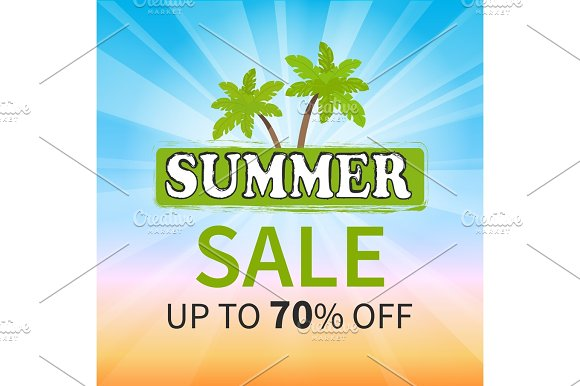 Summer Sale Up To 70 Percent Promotion Poster