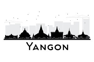 Yangon City skyline