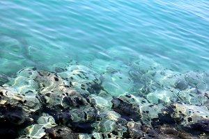 sea with stones