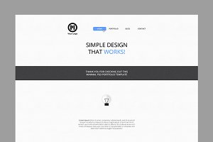 Clean Website Template ~PSD~